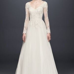 David's Bridal Ivory Wedding Dress